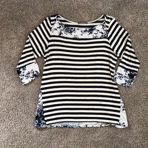 Soft striped top NWOT